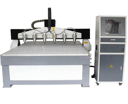 Woodworking cnc router PT-1618-6 with 6 heads